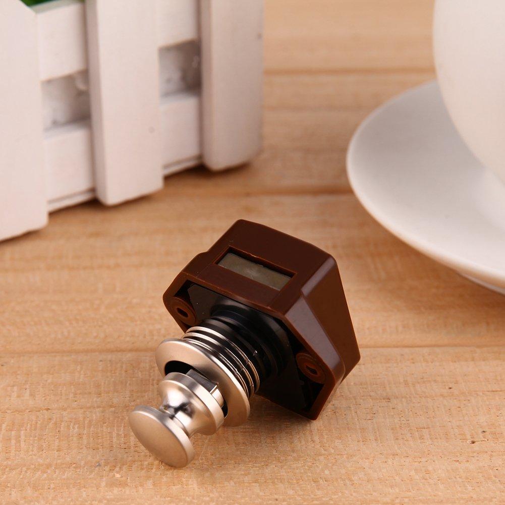 -starnearby braun Push Lock Mini-Push-Lock-Knopf RV-Verschluss Caravan Boot Motorschrank Push-Latch
