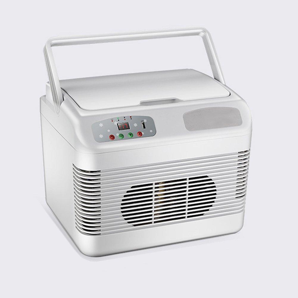 LIQICAI Tragbar Mini Kühlschrank Auto Camping 12V DC (Auto)/24V DC (LKW)/230V AC (Zuhause) (Farbe : Dual-core to -18 Temperature)