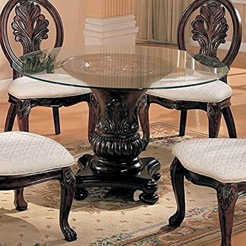 Coaster Home Furnishings 101030 Traditional Dining Table Base, Dark Cherry (Rectangular Table Base)