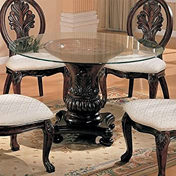 coaster home furnishings 101030 traditional dining table base dark cherry