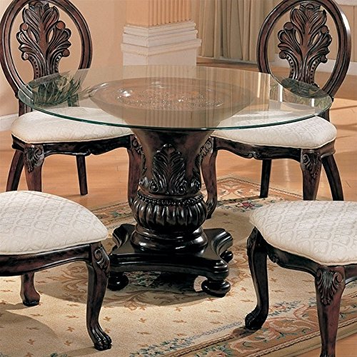 Coaster Home Furnishings 101030 Traditional Dining Table Base, Dark Cherry - Brown Country Dining Table