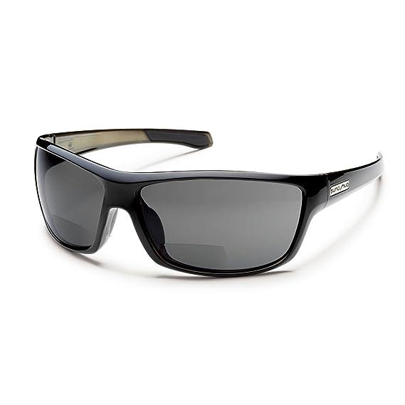 acf2c1694e2f Amazon.com : Suncloud Conductor +1.50 BiFocal Polarized Reader Sunglasses,  Black Backpaint Frame, Gray Polycarbonate Lenses : Sunglasses : Sports &  Outdoors
