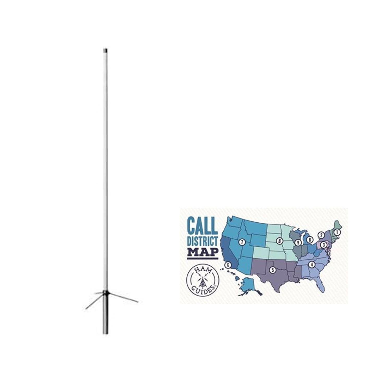 Bundle - 2 Items - Diamond Base antenna, 2m/70cm, UHF, 6ft and Ham Guides TM Pocket Reference Card