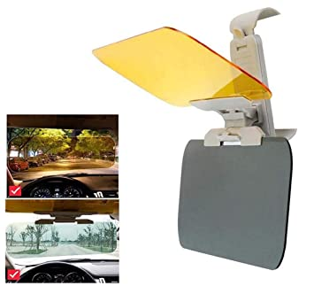 Anti Glare Visor-2 in 1 Transparent Driving Car Sun Visor Extender Anti-UV Block Goggles Shield for Day//Night