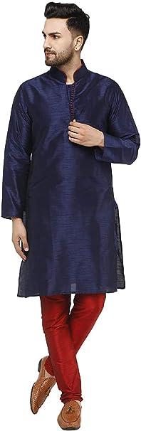 SKAVIJ Seda Cumpleaños Kurta Pijama (Camisa Larga y Pantalón) para Hombre: Amazon.es: Ropa y accesorios