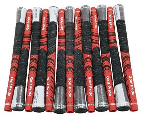 13 NEW Golf Pride New Decade Multi Compound Black Red Grips Standard .600 Core by Golf Pride (Image #1)