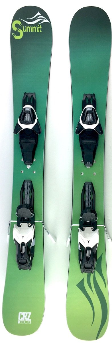 Summit Skiboards CRZ 106cm Rocker Ski Boards w. Atomic L10 Release Bindings 2018