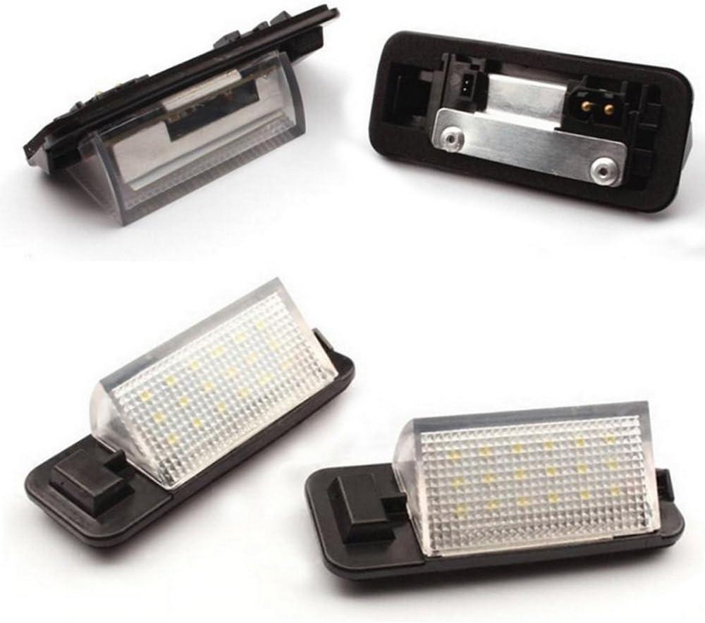 PolarLander 1 Paire LED Plaque Dimmatriculation 2835 SMD 6000k Blanc 12 V Num/éro Plaque Ampoules pour B-M-W E36 318i 318is 318ti 325i