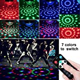 AOMEES Dance Light Disco Ball Party Strobe Light 3W Sound Activated DJ Lights Stage Lights for Halloween Christmas Holiday Party Gift Kids Birthday Celebration Decorations Ballroom