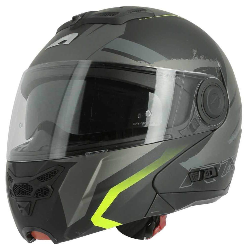 RT800 graphic exclusive ENERGY Casque polyvalent route et ville matt black//yellow Casque en polycarbonate Casque de moto modulable Astone Helmets Casque de moto 2 en 1