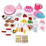 Akozon 86st lÃ¥tsas kök matlagning leksaker elektrisk simulering barn DIY födelsedag fruktkaka leksaker med ljuseffekt…