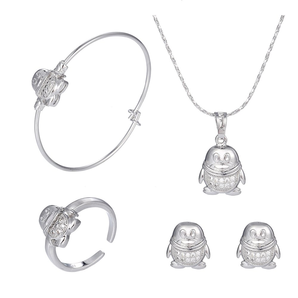 XUPING Lovely Pinguin Modeling Ohrringe Halskette Schmuck Sets Cute für Tag der Kinder giftsnt Fashion Jewelry Sets Kinder Day Gifts GUANGDONG XUPING JEWELLERY M38-60028UK