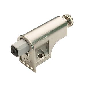 Rok Hardware 15 Pack Soft Close Damper for Cabinet Doors/Compact/Soft Close Adapter/Nickel/Hardware/Hinge