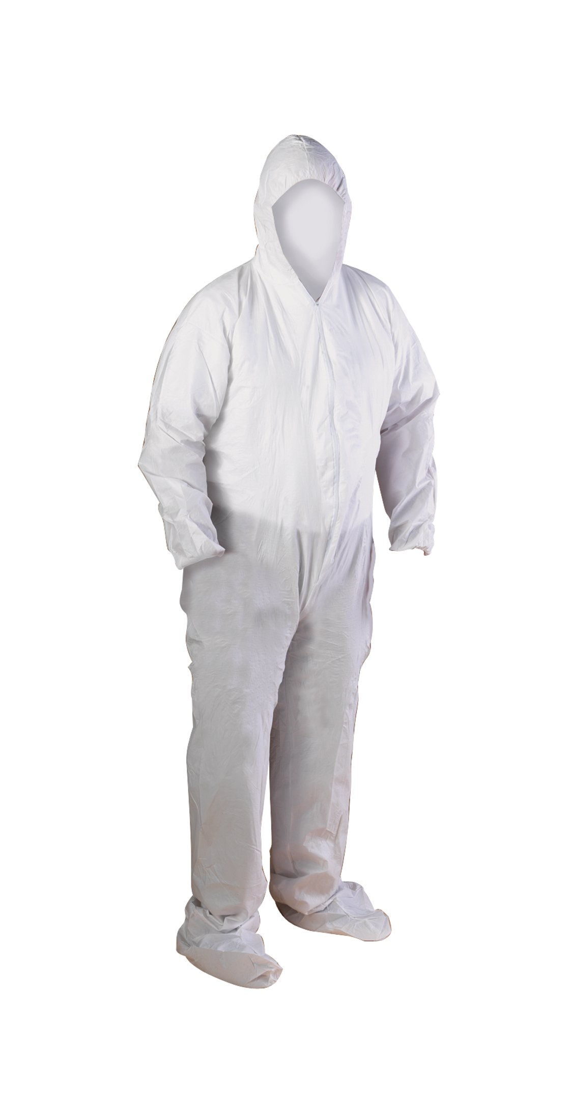 High Five AC195 Microporous WBP Coverall with Hood, Boots, Zip Front, Elastic Wrists And Ankles, 2X-Large, White (Case of 25) by High Five