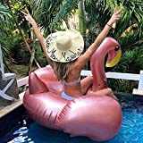 Jasonwell Giant Inflatable Flamingo Pool Float with Rapid Valves Summer Beach Swimming Pool Party Lounge Raft Decorations Toys for Adults Kids X-Large