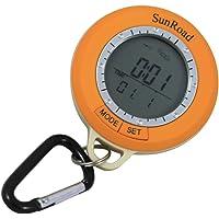 Sunroad Mini LCD Multi-Fonction outil de randonné podomètre Altimètre Baromètre Thermomètre Boussole Météo Prévisions Temps Date...