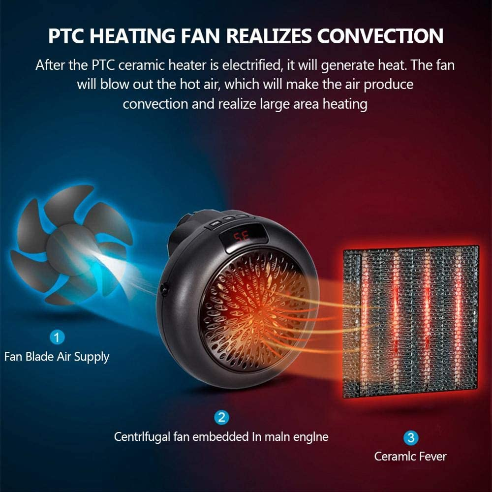 known Fan Heater For Home 1000w Mini Electric Heater Home Heating Electric Warm Air Fan Office Room Heaters Handy Air Heater Warmer Fan FanHeaterBlack Fanheaterblack