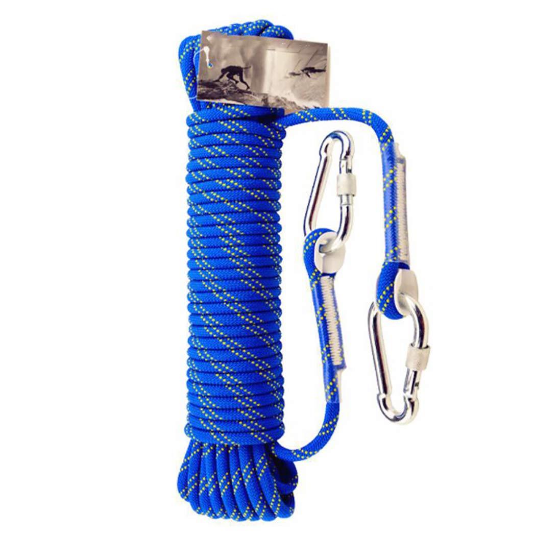 HSBAIS クライミングロープ ザイルガイロープ 安全 アウトドア、10 mm 太さ プロ 高強度 アクセサリーとカラビナ B07QNJH22W 150m(492ft)