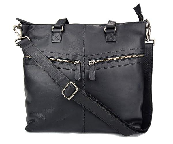 d8a59ec0bcca Amazon.com  Ladies buffalo leather black handbag womens shoulder bag  leather satchel leather shopper notebook handbag leather crossbody  Handmade
