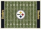 "Alfombra de campo de Pittsburgh Steelers NFL Team Home Mill por Milliken, 7'8 ""x 10'9"", multicolor"