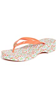 Tory Burch Cut-Out Carved Wedge Flip