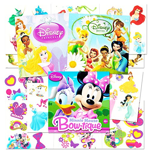 Disney Tattoos Party Favor Set For Girls -- Over 150 Temporary Tattoos Featuring Minnie Mouse, Disney Princess and Disney Fairies (30 Temporary Tattoo (Tattoos Of Kids)