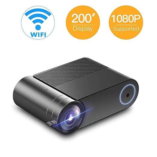 DBSCD Mini proyector portátil WiFi, Pantalla máxima de 140
