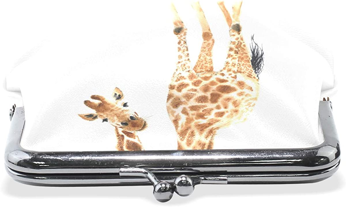 Funny Giraffes Coin Purses Vintage Pouch Kiss-lock Change Purse Wallets