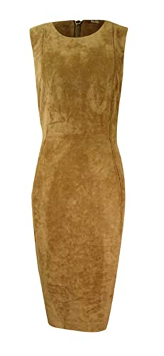 Calvin Klein Women's Sleeveless Faux Suede Sheath Dress