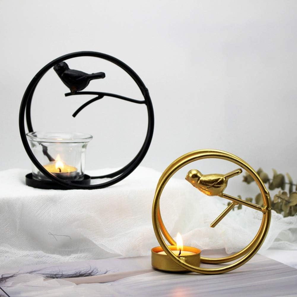 WiFndTu chimenea fiestas Portavelas de metal decoraci/ón del hogar dise/ño minimalista para bodas