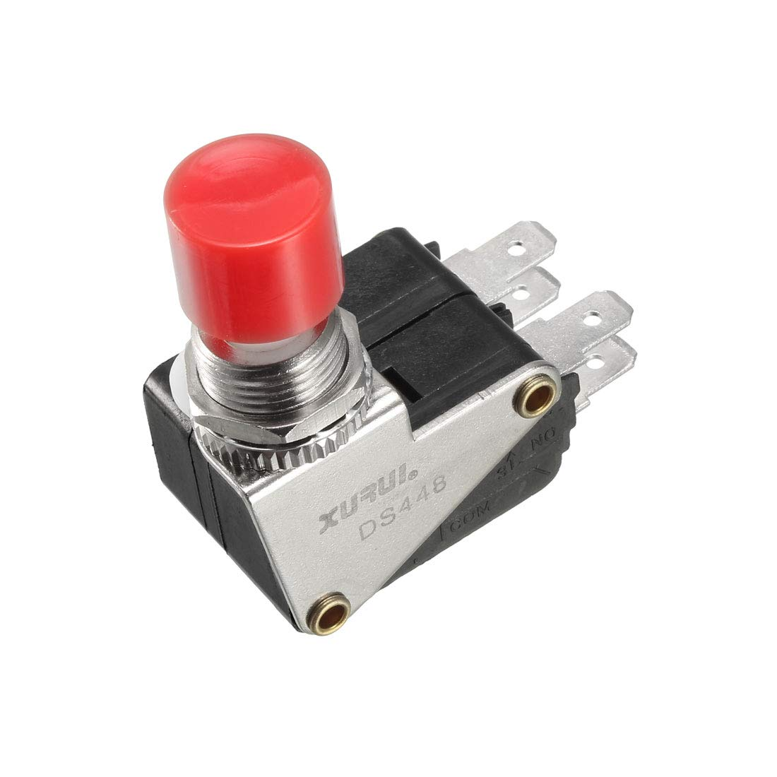 uxcell XURUI Authorized DS438 SPDT NO+NC 3-Termimals Push Button Type Micro Limit Switch