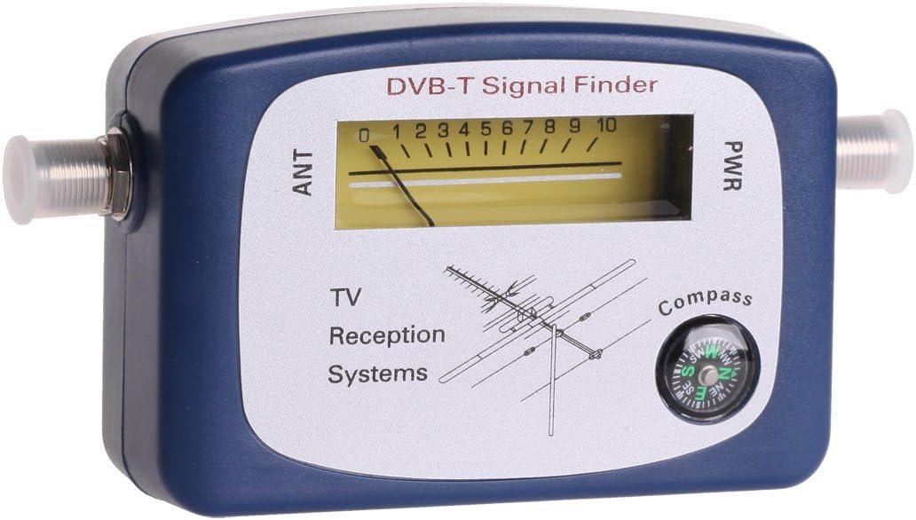 cabl eTech mie0202 DVB-T Finder, Medidor de Calidad para óptima Ajustar la Antena de televisión Azul