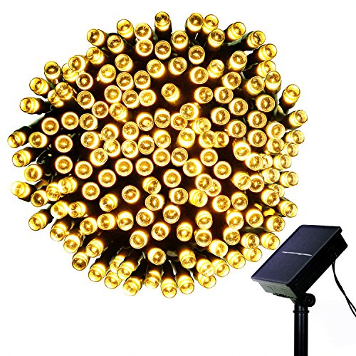 GARMAR Solar String Lights, 8 Mode 72ft 200 LED Ambiance lighting for Outdoor, Camping, Patio, Lawn, Landscape, Garden, Home, Wedding, Holiday, Christmas Party, Xmas Tree, waterproof.(Warm White)