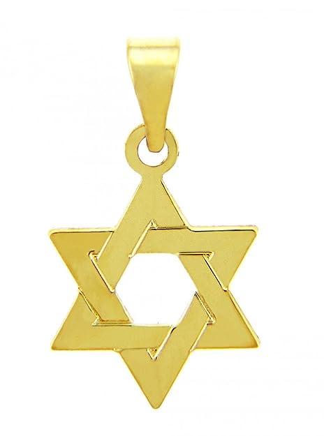 14k gold jewish star of david pendant amazon jewelry 14k gold jewish star of david pendant aloadofball Images
