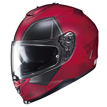 HJC IS-17 Marvel Deadpool - Casco MC-1SF (rojo, mediano)
