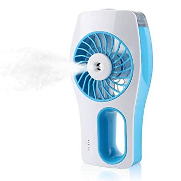 Great IEGrow Handheld USB Mini Misting Fan With Personal Cooling Humidifier(Blue)