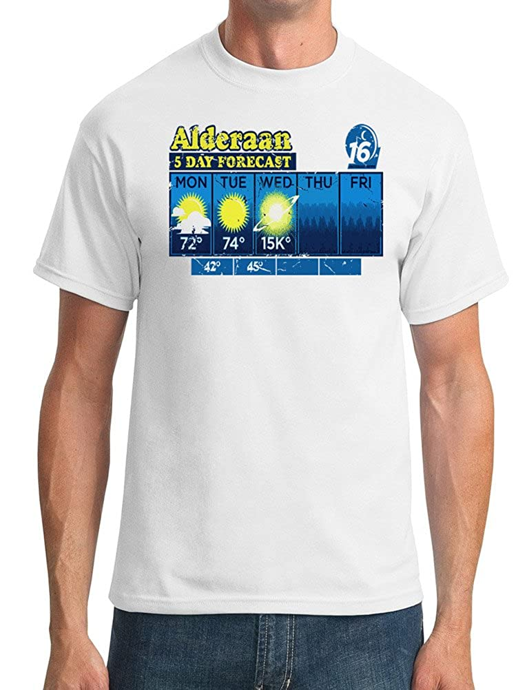 b9f35f917 Alderaan 5 Day Weather Forecast - Star Wars Inspired - DTG Print Kids T- Shirt: Amazon.co.uk: Clothing
