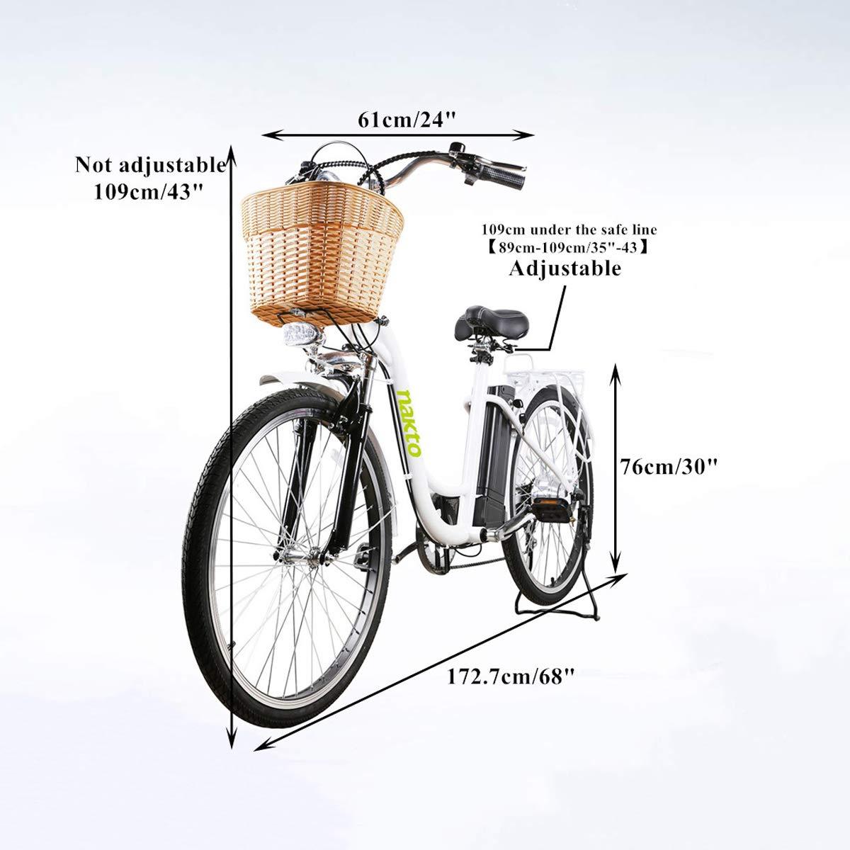 Amazon.com : NAKTO Adult Electric Bicycles 26