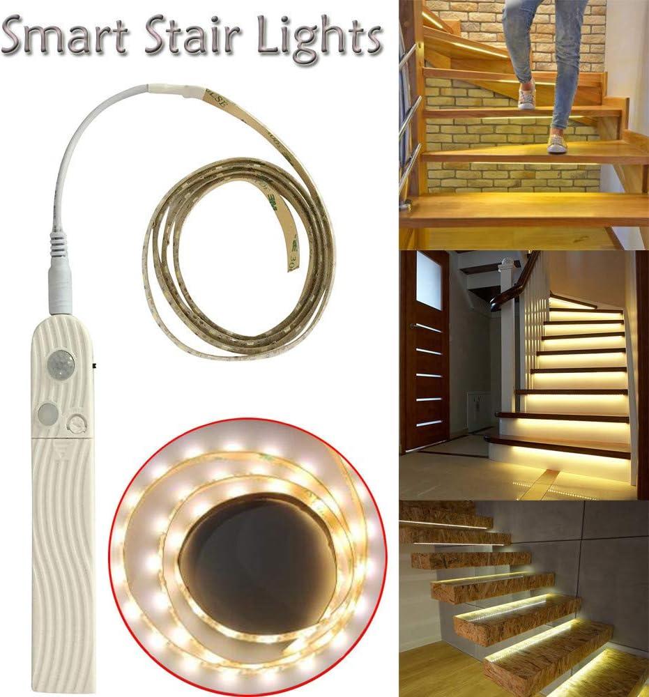 Festnight Luz Nocturna LED 3 piezas Sensores Movimiento Empuje las Luces Sensor Autom/ático Luces Adecuado Para Escaleras L/ámpara Noche con Sensor Integrado Fija Cualquier Sitio Mini Ronda