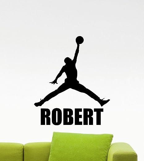 Amazon.com: Personalizado Air Jordan calcomanía decorativo ...