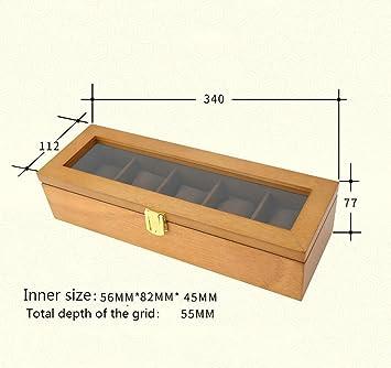 Caja decorativa joyería armario Caja de reloj Cinco cuadrícula ...