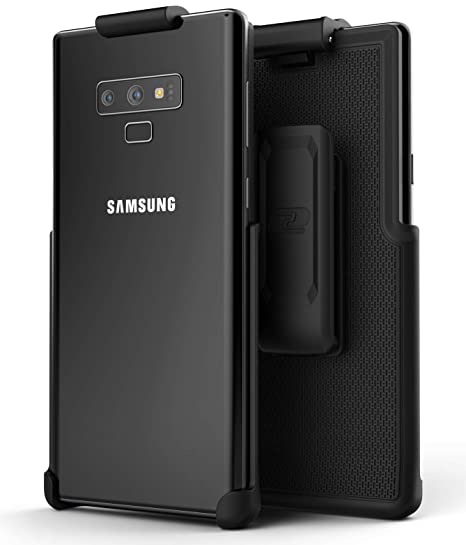 official photos ddffb 40958 Encased Galaxy Note 9 Belt Clip Holster, Case Free Design (ClipMate Series)  Rubberized, Non Slip Rotating Holster for Samsung Note 9 Phone (Black)
