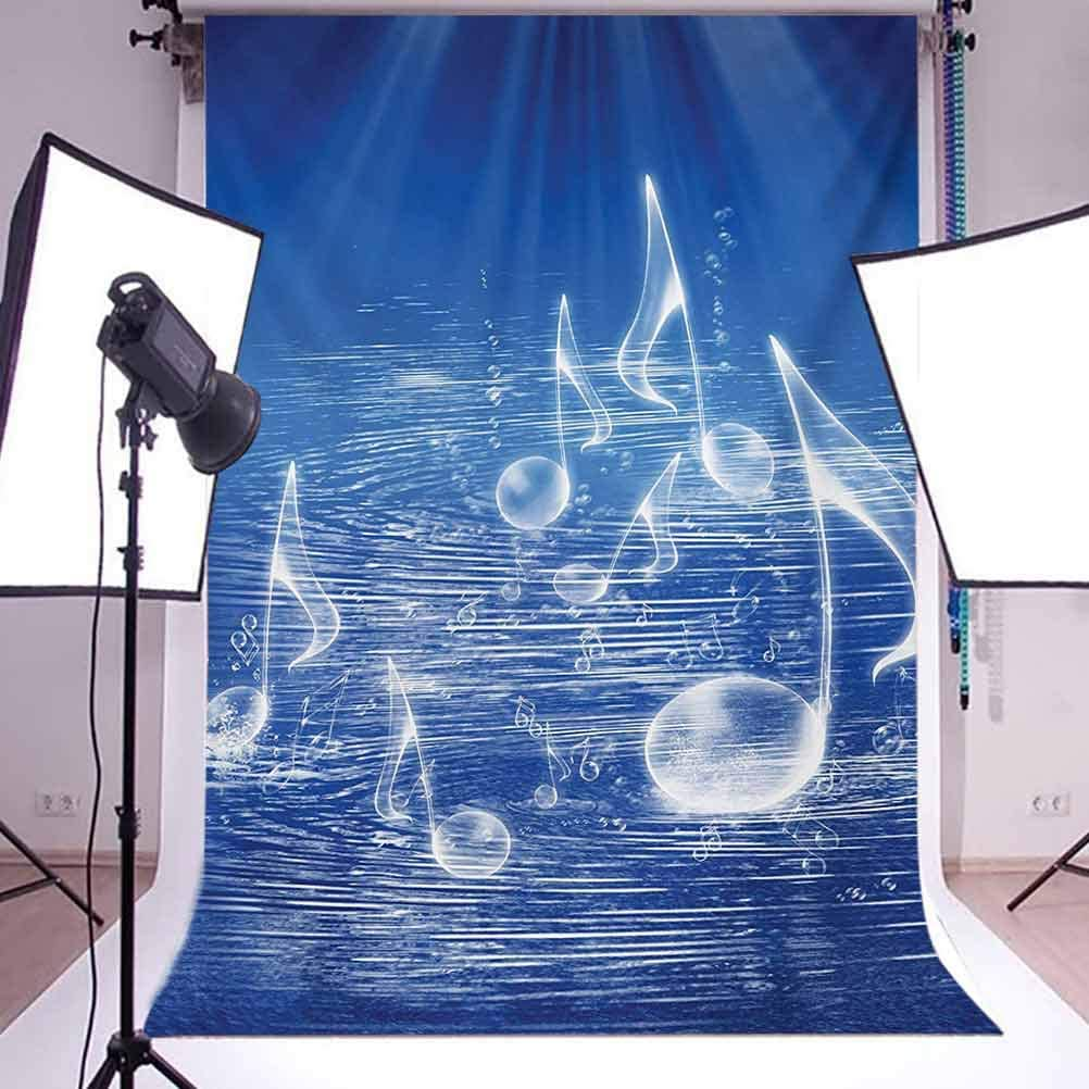 10x15 FT Photo Backdrops,Magical Water with Musical Notes Bubbles Dancing Waves Fantasy Music More Than Real Theme Background for Baby Shower Birthday Wedding Bridal Shower Party Photo Studio Decor