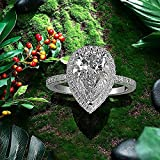 Women Engagement Ring Water-Drop Pear Shaped