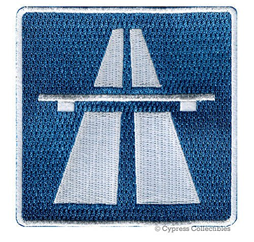 AUTOBAHN SIGN EMBROIDERED PATCH iron on GERMANY NO SPEED LIMIT ROAD HIGHWAY PREMIUM QUALITY DETAILED BEST FOR FITS SLEEVES HATS JACKETS VESTS BACKPACKS SCRAPBOOKS PHOTO ALBUMS (Autobahn Backpack)