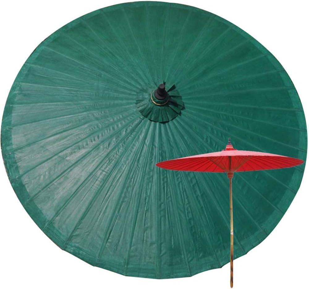 JFFFFWI Parasol 2M Bamboo Garden, Anti-Ultraviolet, Rainproof Patio Umbrella, Outdoor Beach, Handmade Products, Tarpaulin Decorative Umbrella-36 Bamboo Ribs, No Base