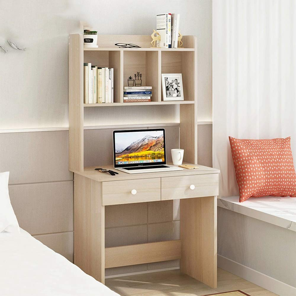 LJNYF Computer Desktop Bookshelf,Bookcase,Simple and Modern Table for Household Use,Writing Desk,Simple Storage Desk, Bookcase Combination Desk,Unadjustable Simplicity 6040145cm by LJNYF