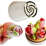 10 Petal Rose Icing Piping Nozzle Stainless Steel