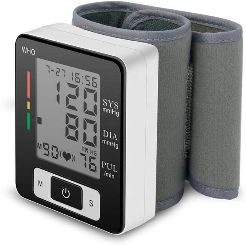 Muñeca monitor de presión arterial digital Sphygmomanómetro automático Máquina médica inteligente Mida la frecuencia del pulso Medición de fitness