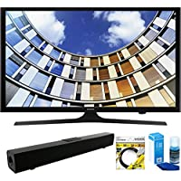Samsung (UN50M5300AFXZA Flat 50-inch 1080p LED SmartTV (2017 Model) Solo X3 Bluetooth Home Theater Sound Bar + 6ft HDMI Cable + Universal Screen Cleaner LED TVs